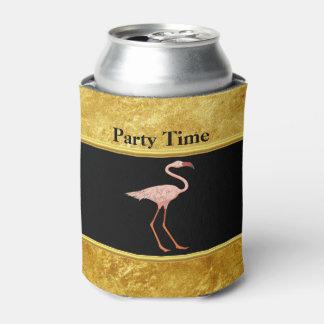 Porta-lata Flamingos cor-de-rosa que estão a textura 1 da
