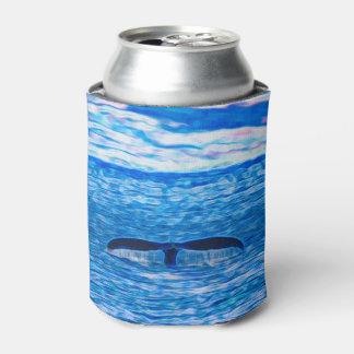 Porta-lata Fractal da cauda da baleia azul e cor-de-rosa