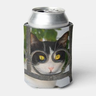 Porta-lata Gato curioso com quadro de espetáculos - Bawdle