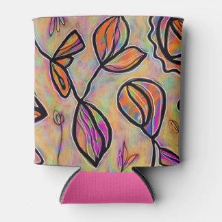 Porta-lata O abstrato floral dos Pastels pode refrigerador