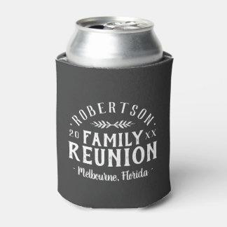 Porta-lata Reunião de família personalizada rústica moderna