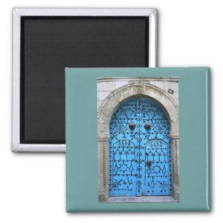 Porta tradicional tunisina do vintage ímã quadrado