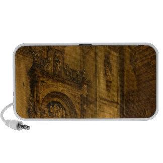 Portal lateral da catedral de Como, 1850 Caixinha De Som De Viagem
