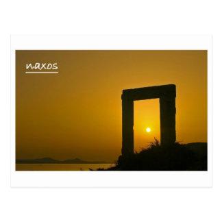 Portara, templo do cartão de Apollo - de Naxos Cartão Postal