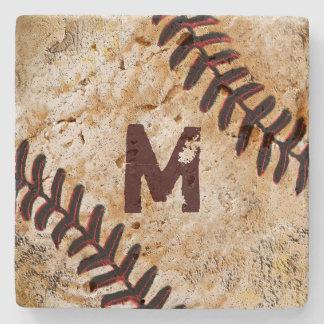Portas copos de pedra do basebol do número ou do porta copos de pedra