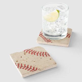 Portas copos do basebol do travertino com olhar porta-copos de pedra