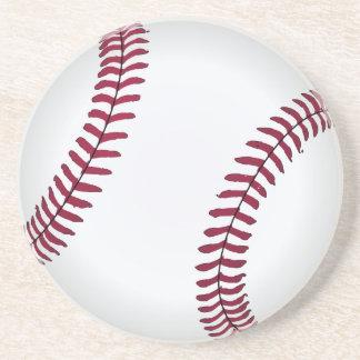Portas copos redondas do basebol liso porta copos de arenito