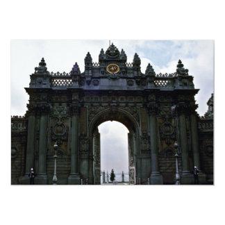 Portas da entrada principal, palácio de convite 12.7 x 17.78cm