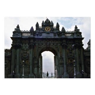 Portas da entrada principal, palácio de Dolmanbahc Convites Personalizado