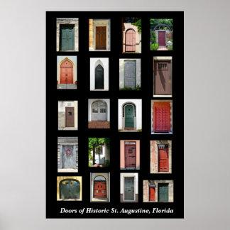 Portas de St Augustine histórico, Florida Impressão