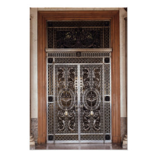 Portas decorativas do d'Apollon de Galerie dentro Poster