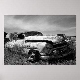 Porte postal do carro de Buick do vintage Poster