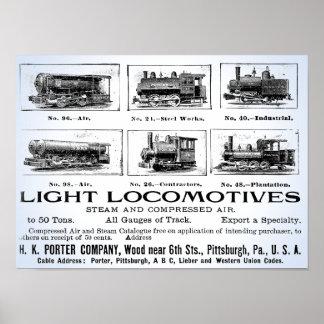 Porteiro de H K & poster das locomotivas de Pôster