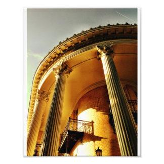 Portico grego do renascimento, savana impressão de foto