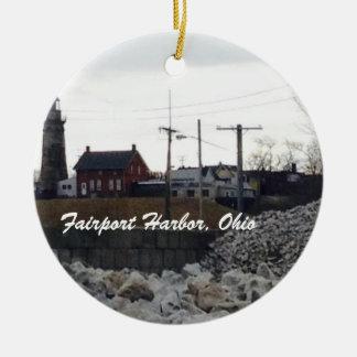 Porto de Fairport, ornamento do feriado da foto de