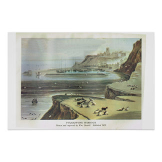 Porto de Kent histórico, Folkestone Poster