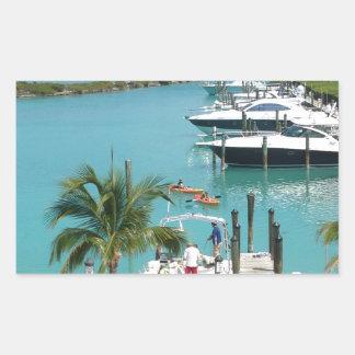 Porto do Cay do falcão Adesivo Retangular
