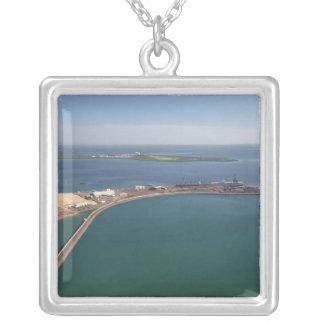 Porto do leste do braço, porto de Darwin Colar Banhado A Prata