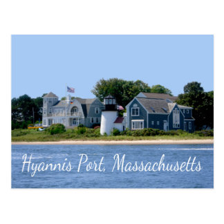 Porto Massachusetts de Hyannis, cartão de Cape Cod