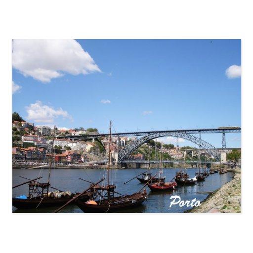 Porto pelo rio de Douro Cartões Postais