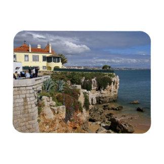 Portugal, Cascais. Praia a Dinamarca Rainha, uma p Foto Com Ímã Retangular