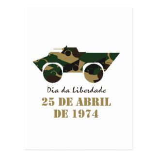 Portugal, diâmetro a Dinamarca Liberdade (dia da Cartão Postal