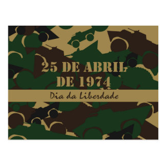 Portugal, diâmetro a Dinamarca Liberdade ou dia da Cartão Postal