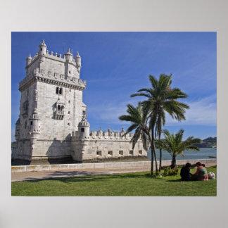 Portugal, Lisboa. Torre de Belém, um mundo 2 do UN Pôster