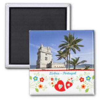 Portugal nas fotos - torre de Belém Ímã Quadrado