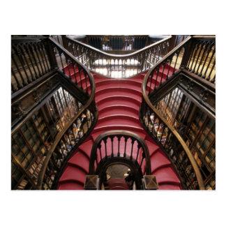 Portugal, o Porto (Porto). Escadas em histórico Cartão Postal