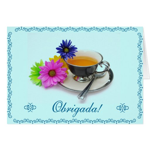 Português: Agradecimento/obrigado você Cartões