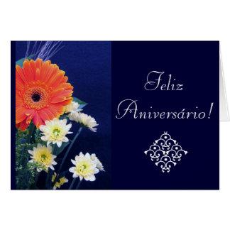 Português: Aniversário/Aniversario Cartão Comemorativo