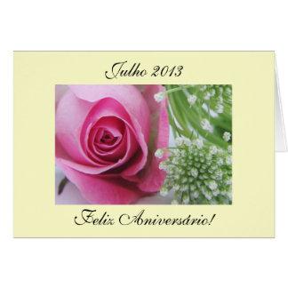 Português: Aniversário Aniversário de julho: Julho Cartão Comemorativo