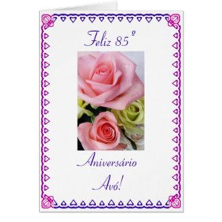 Português: Aniversário de 85 avós do avo de Anos o Cartão Comemorativo