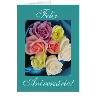 Português: Aniversário dos Parabens de Aniversario Cartão Comemorativo