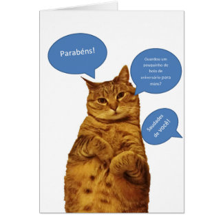 Português: Aniversario - Gato Cartões