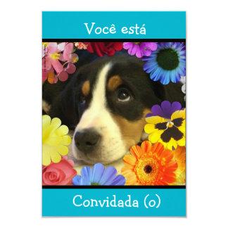 Português: Convite/convite do aniversário Convite 8.89 X 12.7cm