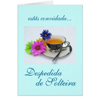 Português: Despedida de Solteira Cartão Comemorativo