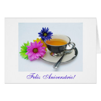 Português: Diâmetro de anos: Aniversário de Chá e  Cartão