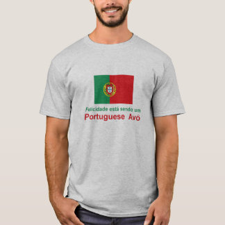Português feliz Avo (avô) Camiseta