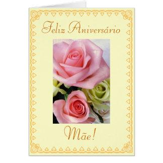 Português: Flores do aniversário Cartão Comemorativo