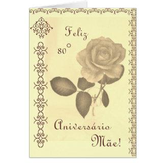 Português: Mãe de Parabéns/80 da mãe aniversário Cartão
