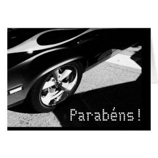 Português: Parabens! /aniversário-Carro de Cartão Comemorativo