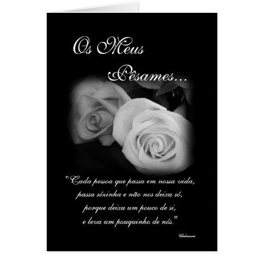 Português: Poema de Condolencias Cartao
