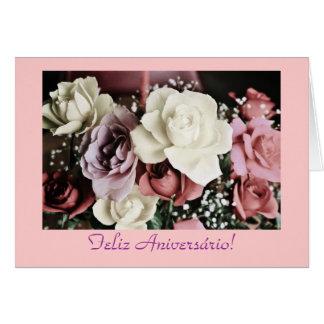 Português: Rosas Rosas de aniversário do Cartão