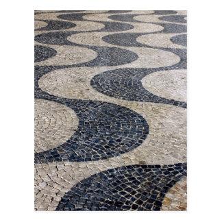 Portuguese Calçada, Lisbon, Portugal Cartão Postal