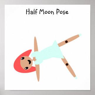 Pose da meia lua poster