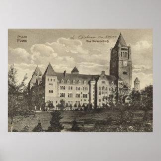 Posen Alemanha Castelo 1920 Impressão