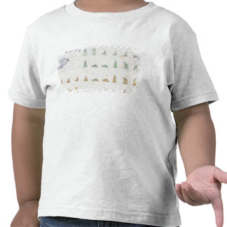 Posições diferentes do corpo durante a oração de t-shirt