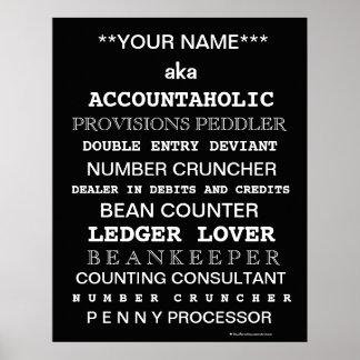 Posições engraçadas do contador de Personalisable Posteres